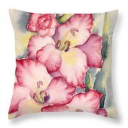 Gladiolus In Pink Throw Pillow