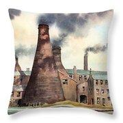 Gladstone Pottery Works Throw Pillow