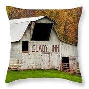 Glady Inn Barn Wv Throw Pillow