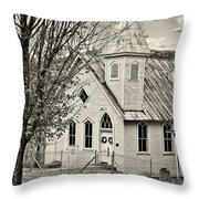 Glady Presbyterian Sepia Throw Pillow