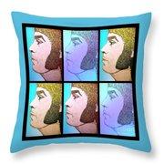 Glam Rocker Collage  Throw Pillow