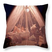 Glamping Throw Pillow