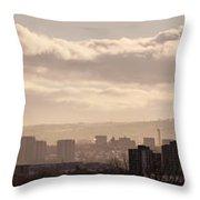 Glasgow Cityscape Throw Pillow