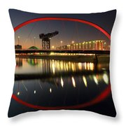 Glasgow Clyde Arc Bridge Throw Pillow