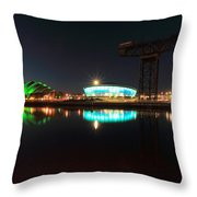 Glasgow Clyde Reflections Throw Pillow