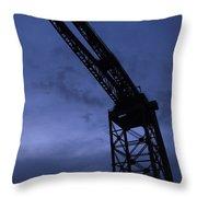 Glasgow Dock Crane 02 Throw Pillow