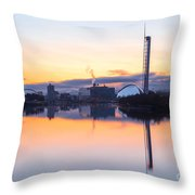 Glasgow Waterfront At Dawn Boxing Day Throw Pillow