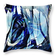 Glass Abstract 140 Throw Pillow