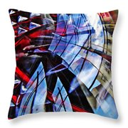 Glass Abstract 220 Throw Pillow