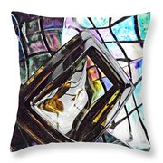 Glass Abstract 309 Throw Pillow