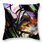 Glass Abstract 314 Throw Pillow