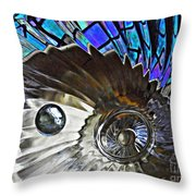 Glass Abstract 372 Throw Pillow by Sarah Loft