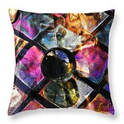 Glass Abstract 393 Throw Pillow