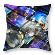 Glass Abstract 396 Throw Pillow