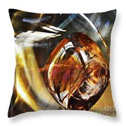 Glass Abstract 476 Throw Pillow