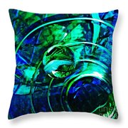 Glass Abstract 477 Throw Pillow