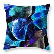 Glass Abstract 483 Throw Pillow