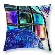Glass Abstract 490 Throw Pillow