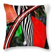 Glass Abstract 493 Throw Pillow