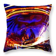 Glass Abstract 554 Throw Pillow