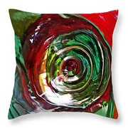 Glass Abstract 573 Throw Pillow