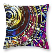 Glass Abstract 588 Throw Pillow
