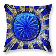 Glass Abstract 590 Throw Pillow