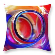 Glass Abstract 592 Throw Pillow