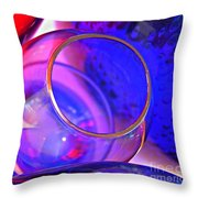 Glass Abstract 594 Throw Pillow