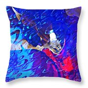 Glass Abstract 597 Throw Pillow