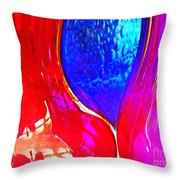 Glass Abstract 606 Throw Pillow