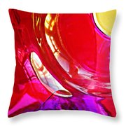 Glass Abstract 607 Throw Pillow