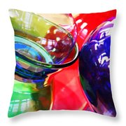 Glass Abstract 618 Throw Pillow