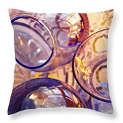 Glass Abstract 620 Throw Pillow