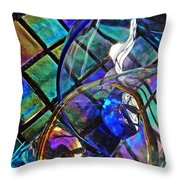 Glass Abstract 690 Throw Pillow