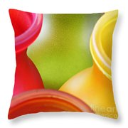 Glass Abstract 716 Throw Pillow