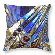 Glass Abstract 746 Throw Pillow