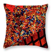 Glass And Beads Throw Pillow
