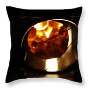 Glass And Flame Throw Pillow