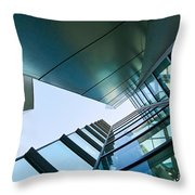 Glass And Metal - Walt Disney Concert Hall In Downtown Los Angeles Throw Pillow