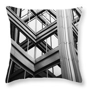 Glass And Steel Throw Pillow