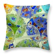Glass Beads Abstract Throw Pillow