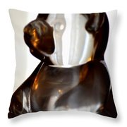 Glass Bear Throw Pillow