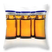 Glass Bottles And Medicine Throw Pillow