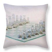 Glass Chess Throw Pillow