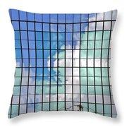 Glass Facade Houston Tx Throw Pillow by Christine Till