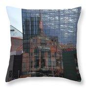 Glass Facade Reflection - Aquarium Baltimore Throw Pillow