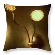 Glass Flowers  Throw Pillow