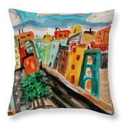 Glass Front Office Building Throw Pillow