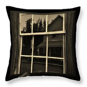 Glass Ghost Throw Pillow